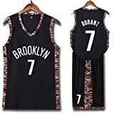 Photo de WSAYY Brooklyn Nets 7 et 11ème Maillot Basket NBA, Kevin Durant et Kyrie Irving Sports D'été Maillot Basket,Uniformes de Basket pour Adultes et Enfants, Uniforme De Basket Y Compris Les Shorts par WSAYY