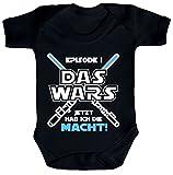 ShirtStreet Strampler mit Motiv Bio Baumwoll Baby Body kurzarm Junge - Das Wars jetzt hab ich die Macht!, Größe: 18-24 Monate,Black