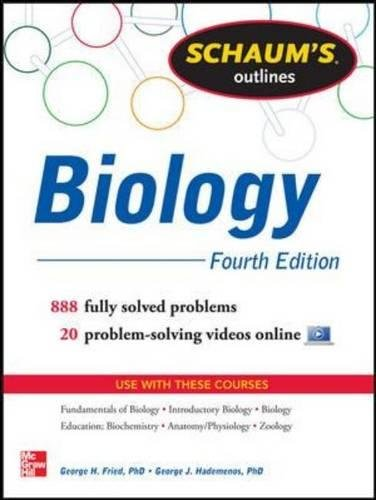 Schaum's Outline of Biology: 865 Solved Problems + 25 Videos (Schaums' Outline Series)