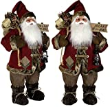 Christmas Paradise Weihnachtsmann Santa Clause Huto Deko 3 Größen 45 cm