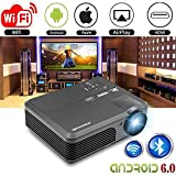 WiFi Projector for iPhone Mac Android, CAIWEI Wireless LCD LED Projector 4200 Lumens