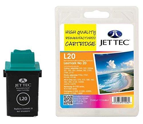 Jet Tec L20 Cartuccia D'inchiostro,Reman, N.20/ 15m0120,