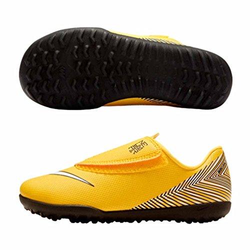 Nike Jr Vapor 12 Club PS (v) NJR Tf, Scarpe da Calcetto Indoor Unisex-Bambini, Multicolore (Amarillo/White-Black 710), 27 EU