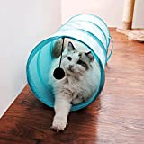 Creation® Collapsible Katze Tunnel-Spielwaren , Haustier-Tunnel und Röhren für Small Medium Hund, der / Fitnesstraining (Blau)