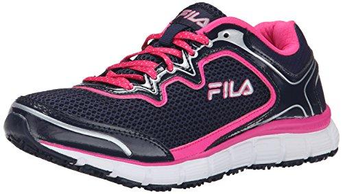 Fila di memoria Fresh Start antiscivolo scarpe da lavoro Fila Navy/Pink Glo/White