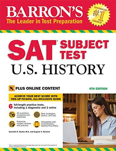 Price comparison product image Barron's SAT Subject Test U.S. History,  4th Edition: With Bonus Online Tests
