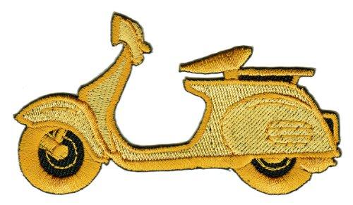Roller Gold Aufnäher Bügelbild Aufbügler Iron on Patches Applikation Kleidung Roller-patch
