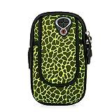 Laufender Armband-Telefonhalter, Fitness Arm Tasche Tauchen Handy Arm Band für iPhone Zehn/X 6 7 8 Lauf und Radfahren Arm Tasche (Farbe : Grün, Größe : Small)