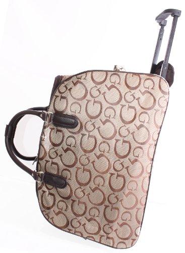 Modische G Design Reisetasche auf Rollen Reisetasche Krankenhaus-Tasche Braun - Coffee Brown