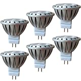 GU4 LED MR11 12V AC/DC Warmweiß Ersetzen 10W, 20W, 35W Halogenlampen, AlideTech 3W 250LM Led Lampen Warmweiss 2700K, Led Spots 35mm Durchmesser, 30°, 6er Pack