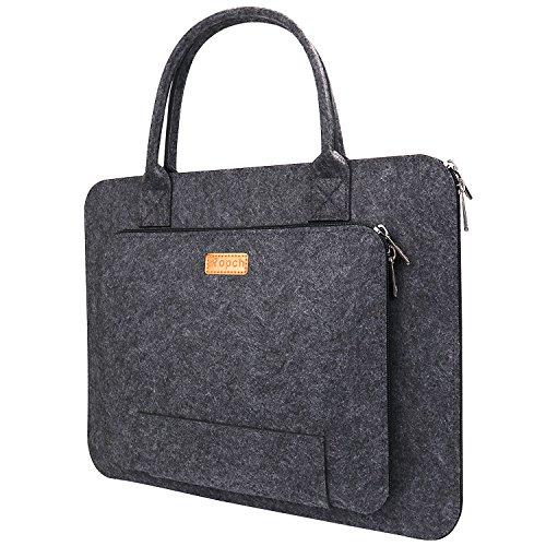 Ropch Notebooktasche 17,3 Zoll Fation Laptop Hülle Tasche mit Griff  - Dunkelgrau