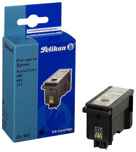 Pelikan 337535 – Cartucho inkjet (para Epson Stylus Color 680, 685, 777, 777i, 17 ml) color negro