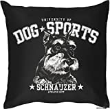Schnauzer - Hunde Motiv Kissenbezug HUNDEVERSTEHER -Geschenk Hundefreunde 40 x 40 cm Deko- u. Nutzkissen Überzug : )