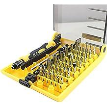 NIUTOP 45 en 1 Herramienta de apertura portátil profesional compacto Kit de destornilladores con pinzas y la extensión del eje para el mantenimiento o la reparación precisa (Jk6089-A)