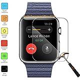 Owbb Protection écran en Verre Trempé pour 42mm Apple Watch Screen Films de protection Transparents Ultra Clear