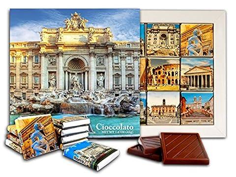 DA CHOCOLAT Candy Souvenir ROME Set cadeau chocolat 13x13cm 1 boîte (Fontaine de Trevi)