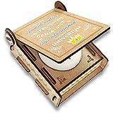 CANDLE in the BOX Geschenk-Box für Patenonkel mit Botschaft & Kerze | Personalisiert mit Bild und mit Namen | Bester Patenonkel des Universums