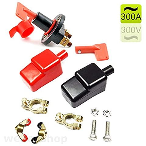 Batteriepolklemmen M8 M10 + 12V Batteriehauptschalter 300A