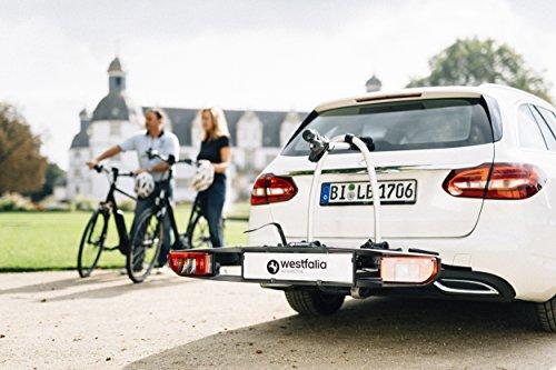 Westfalia BC 60 (Modell 2018) Fahrradträger für die Anhängerkupplung - Zusammenklappbarer Kupplungsträger für 2 Fahrräder - E-Bike geeigneter Universal-Radträger mit 60kg Zuladung