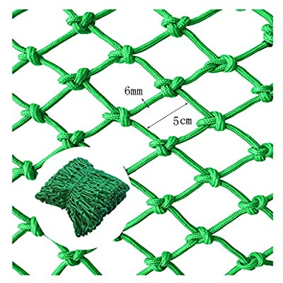 Safety Net, Nylon Rope Net Green Balcony Barrier Net Stair Anti-fall Net Garden Decoration Net Playground Fence Net Kindergarten Rope Net Can Be Cut 1x2m3m4m (Size : 10 * 10M(33 * 33ft))
