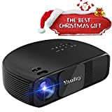 Yaufey 720P HD Vidéoprojecteur LED, 3200 Lumen Vidéo Projecteur Support 1280x800 HDMI USB VGA AV Ordinateur Portable Iphone Andriod Smartphone Projecteur Idéal pour Home Entertainment,Noir