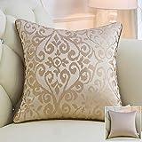 QWE Kissen Europäischen Stil Sofa Umarmung Kissen Bett kopfstütze Auto lenden rückenlehne, Girard licht Kaffee_50 cm * 50 cm Jacke + Kern