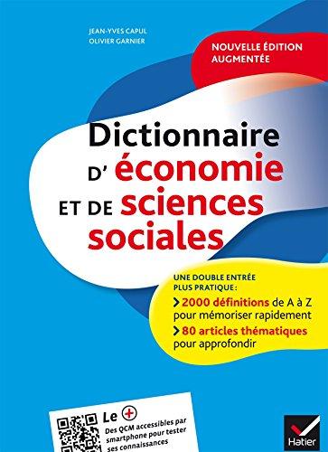 Dictionnaire d'économie et de sciences sociales par Jean-Yves Capul