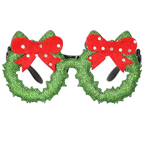 Zolimx natale occhiali telaio, natale occhiali pupazzo di neve cornice felice anno nuovo bambini bomboniere natale regalo partito decorazione