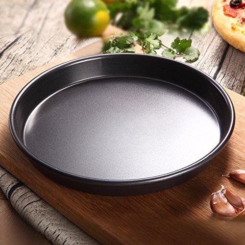 JIAJU Ofen backen Formen, Kohlenstoff-Stahl Antihaft-Pizza tiefen Teller, 11 inch (Tiefe Rechteckige Backform)