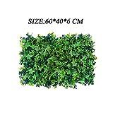 NBWS Muro di Piante Artificiali, recinzioni Artificiali con Foglia d'erba Siepe per Decorazioni per la casa Giardini Ornament Indoor Outdoor Wall Decor-L