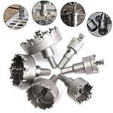 TianranRT 6 PCS Loch Säge Zahn HSS Stahl Bohrer Bit Set Cutter Werkzeug für Metall Holz Legierung