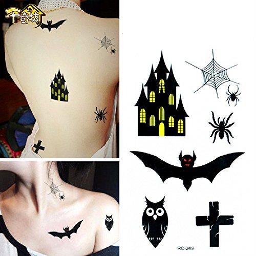 Xjoel Halloween-Kostüm-Party Zombie Horror Scar Wound Tattoos Biss Fake Blood (Stadt Zubehör Party Halloween)
