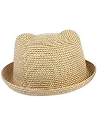 Doitsa sombrero eenfants orejas de gato Mignon oso sombrero de paja visera  sombrero de cuenca gorra 50d1a97cdfe