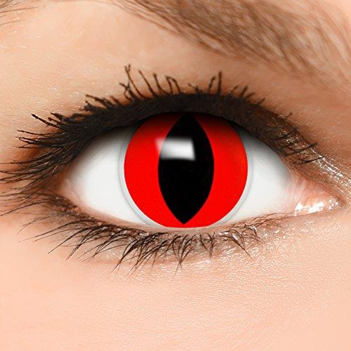 Maske Up Katze Mit Kostüm Make (Farbige Kontaktlinsen