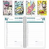 Brownline 2018-2019Motif comics Agenda scolaire journalier, 8x 5, jour par page, Août 2018à juillet 2019, motifs assortis, le Motif Peut varier (Ca201Pa. Asx-19)