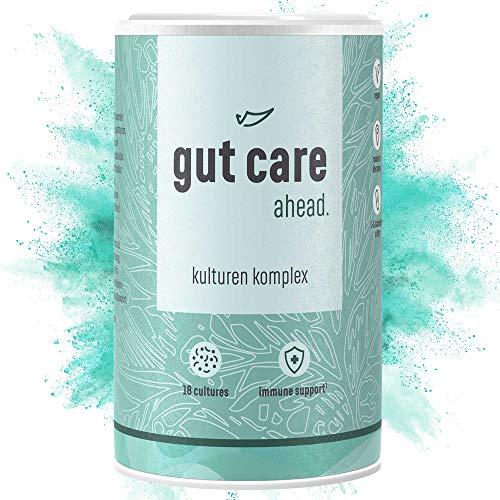 ahead® GUT CARE I Kulturen-Komplex aus 18 Darmbakterien + Inulin I 90 Kapseln für die Darmflora I Bakterien-Stämme mit 15 Mrd KBE* & Zink für Immunsystem* I Vegan,hochdosiert &