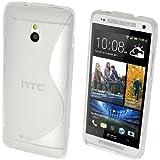 GADGET BOXX HTC ONE MINI M4 S-LINE Silikon-Gel in FALL ABDECKUNG TRANSPARENTE und Bildschirmschutz