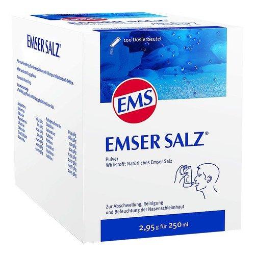 Emser Salz zur Verwendung mit der Emser Nasendusche - Bei Erkältung als Alternative zu Nasenspray - 100 x 2,95 g Beutel