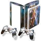 Universum, Designfolie Sticker Skin Aufkleber Schutzfolie mit Farbenfrohem Design für PlayStation 3 Super Slim