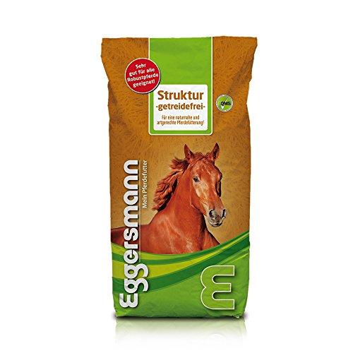 Eggersmann Futter für Pferde mit Stoffwechelproblemen und für empfindliche Pferde, Pferdefutter Struktur Getreidefrei, 1er Pack (1 x 15 kg)