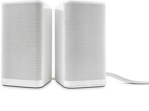 HP 2.0 S5000 (K7S74AA) Lautsprechersystem (Kompatibel mit Smartphone, Tablet, PC, 3,5-mm-Audioanschluss) weiß