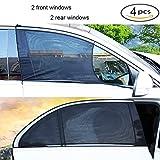 4 stücke Autofenster Sonnenschutz, Schützen Baby Kid vor UV-Licht Universal Fit Winow Slip On Stretchable Mesh Protect - Blöcke Sonnenblendung