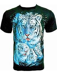Rock Chang T-Shirt * White Tiger * Tigre Blanc * Noir R498