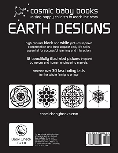 EARTH DESIGNS - black and white books for newborn babies and the whole family (BLACK AND WHITE BOOKS FOR NEWBORNS AND BABIES)