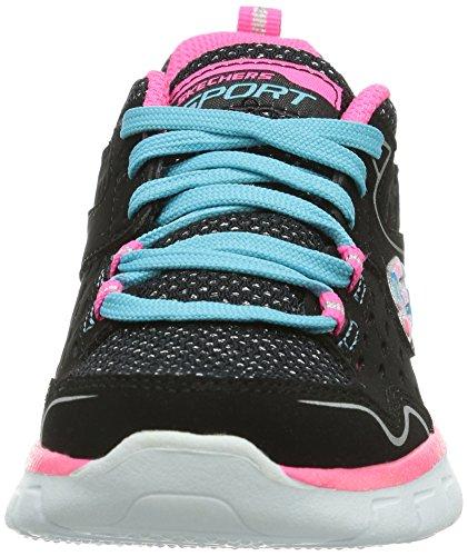 Skechers Synergy Alister, Chaussures de sports extérieurs fille Noir (Noir/Multi)