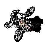 DFRTY Riding Extreme Cyclisme Horloge Murale Vélo Disque Vinyle Horloge Murale Dirt...