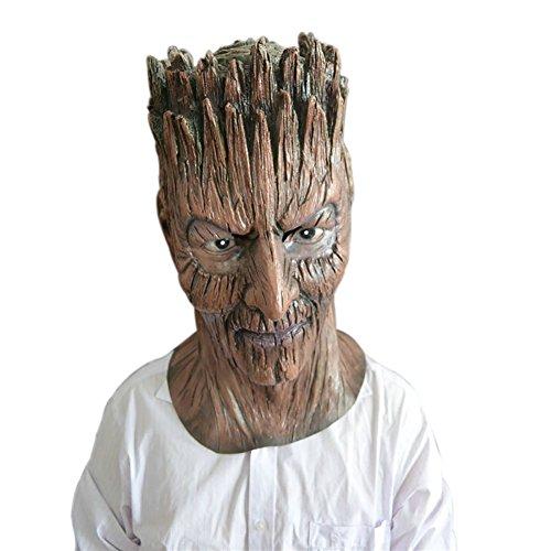 uesae Halloween Masken Scary Erwachsene Creepy Baum Demon Dekoartikel für Halloween Kopfbedeckung Kopf Maske Latex Kostüm Party Cosplay Karneval Zubehör 1Stück