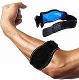 Tutore per gomito del tennista con cuscinetto di compressione-sollievo dal dolore e sostegno per gomito del tennista e del golfista, epicondilite, tendinite. Ottima vestibilità e alle intemperie