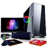 Fierce Avenger RGB Gaming PC Bundeln - Schnell 6 x 4.3GHz Hex-Core Intel Core i5 8600, Aftermarket Tower Kühler, 1TB Seagate FireCuda Solid State Hybrid Drive, 16GB von 2666MHz DDR4 RAM / Speicher, AMD Radeon RX 580 8GB, ASUS TUF H310M-PLUS GAMING Hauptplatine, Game Max Hush Silent RGB Computergehäuse, HDMI, USB3, Wi - Fi, VR Bereit, Perfekt für High-End-Spiele, Windows nicht Enthalten, Tastatur (QWERTZ), Maus, 24-Zoll-Monitor, Headset, 3 Jahre Garantie 1087768