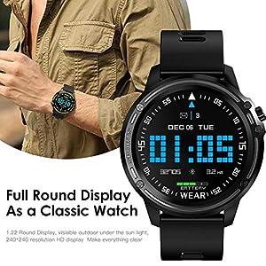 Ardorman Smartwatch Fitness Tracker, Blutdruckuhr mit Pulsmesser IP68 wasserdicht Sportuhr, Schlafmonitor Schrittzähler Smartwatch Damen Herren Smart Watch